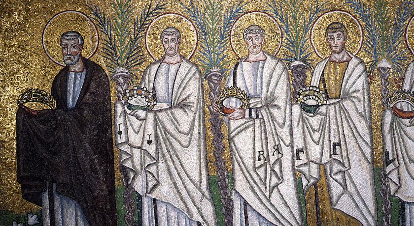 Corteo dei santi (dettaglio), Sant'Apollinare in Classe