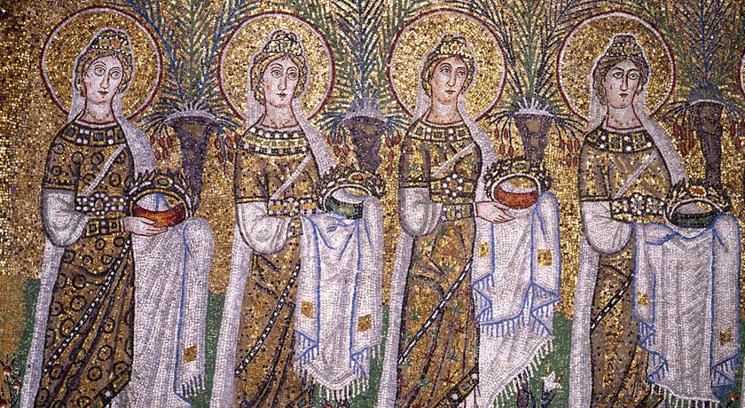 Il corteo delle Vergini della basilica di Sant'Apollinare Nuovo