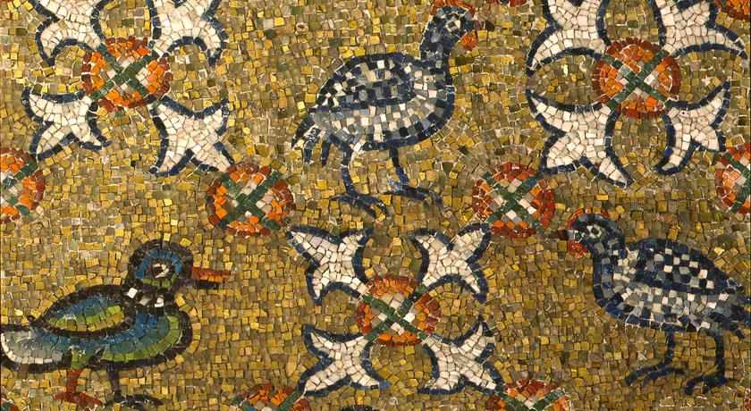 Dettaglio di volatili, Cappella Arcivescovile, Ravenna