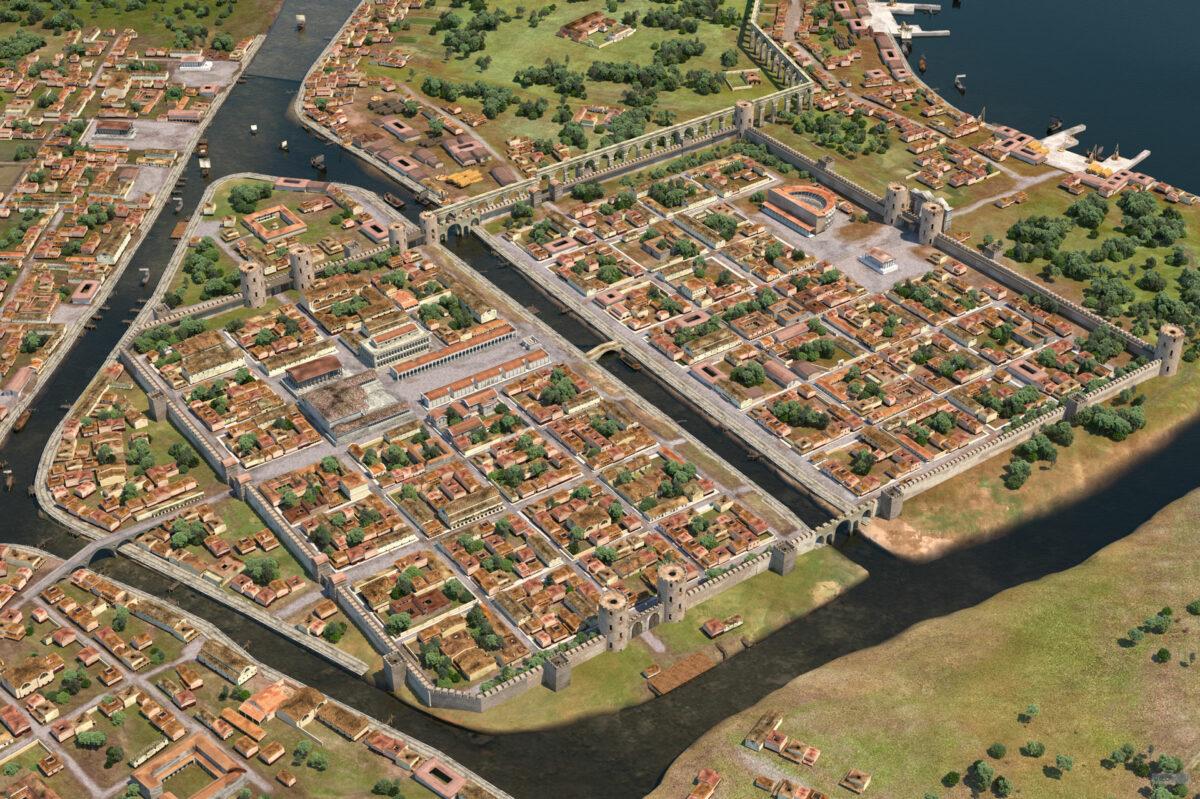 Ricostruzione di Ravenna (I secolo d.C.)