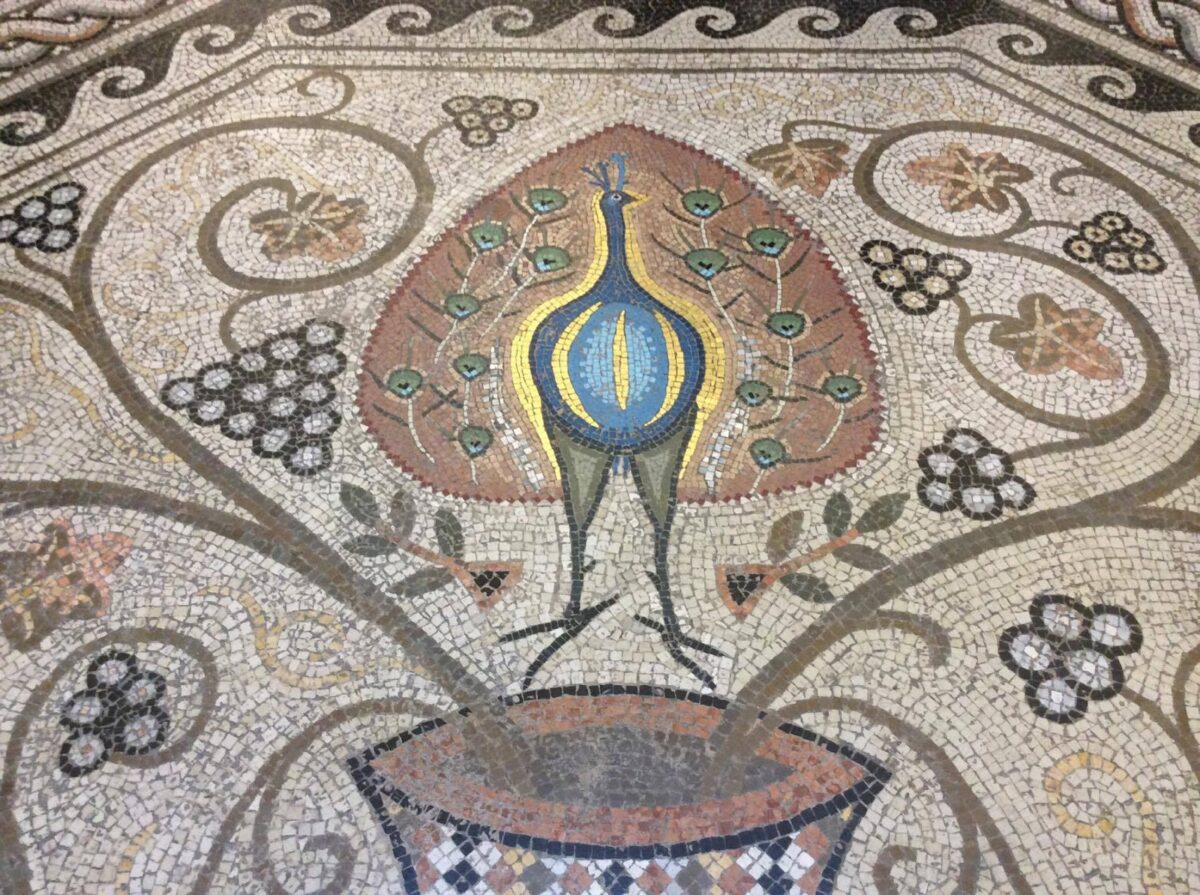 La sala del mosaico, Biblioteca Classense, Ravenna