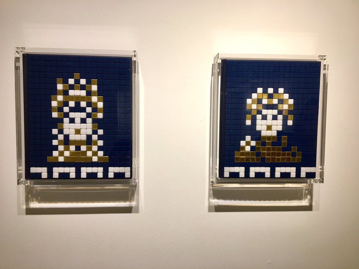Invaders from Mosaic of Ravenna exhibition,Mostra ad Hong Kong