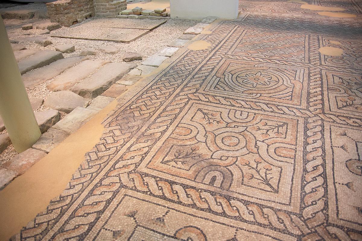 Domus dei Tappeti di Pietra - pavimento in mosaico particolare