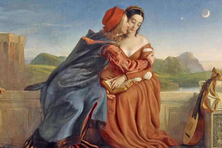 Dipinto di Paolo e Francesca, opera di William Dyce