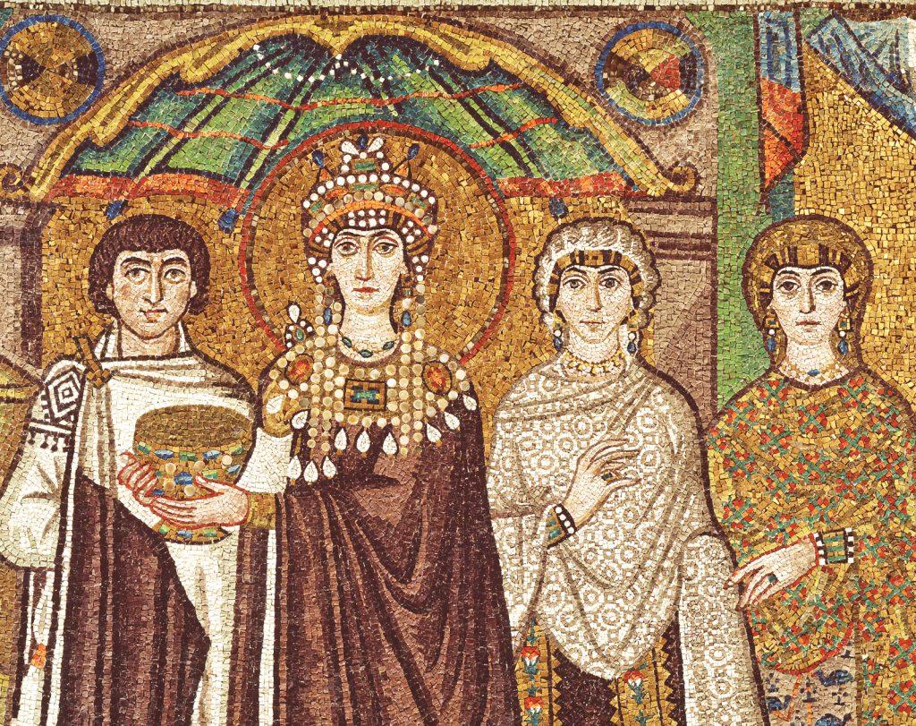 Corteo dell'imperatrice Teodora, Basilica di San Vitale, Ravenna