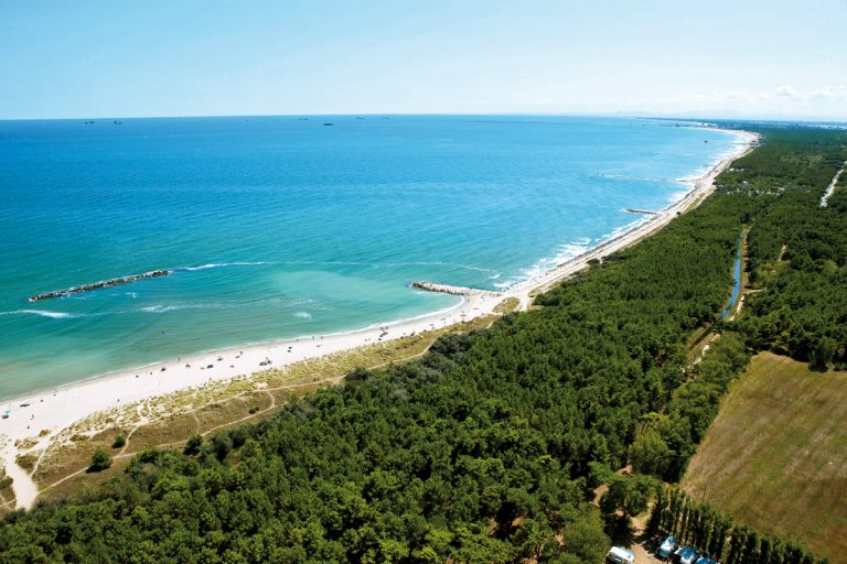 Beach of CasalBorsetti (Ravenna) - Panoramich view from above