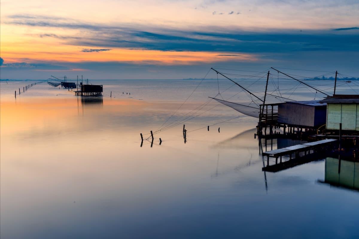 Capanni di pesca lungo il Bevano (Comacchio) - Aula Magna