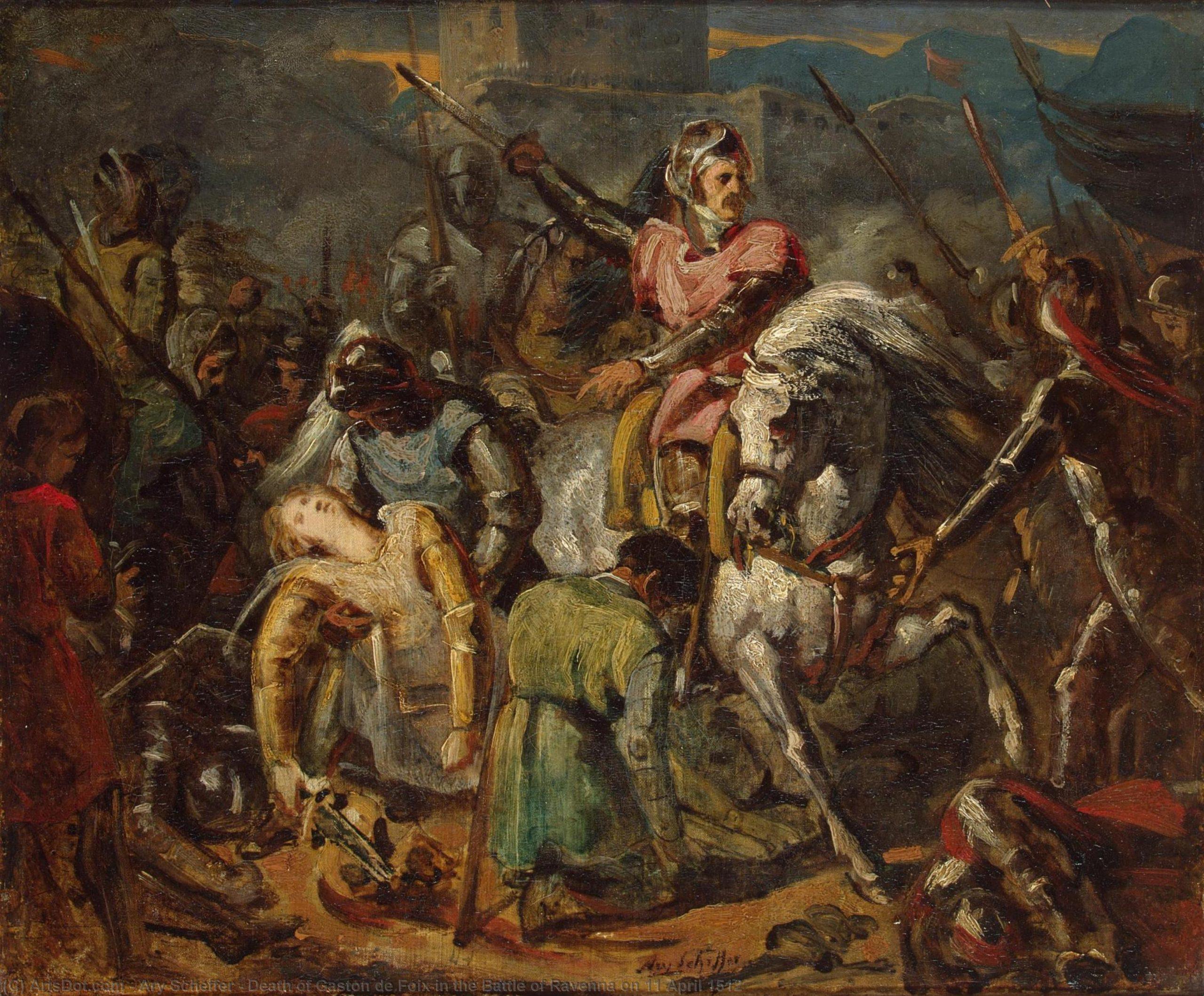 La morte di Gaston De Foix nella battaglia di Ravenna del 1512 The Hermitage (St. Petersburg, Russia)