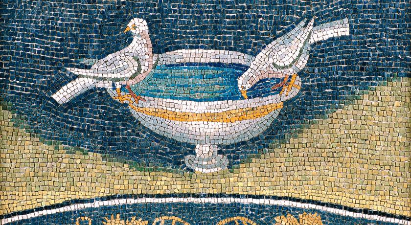 Le colombe abbeveranti del mausoleo di Galla Placidia, Ravenna