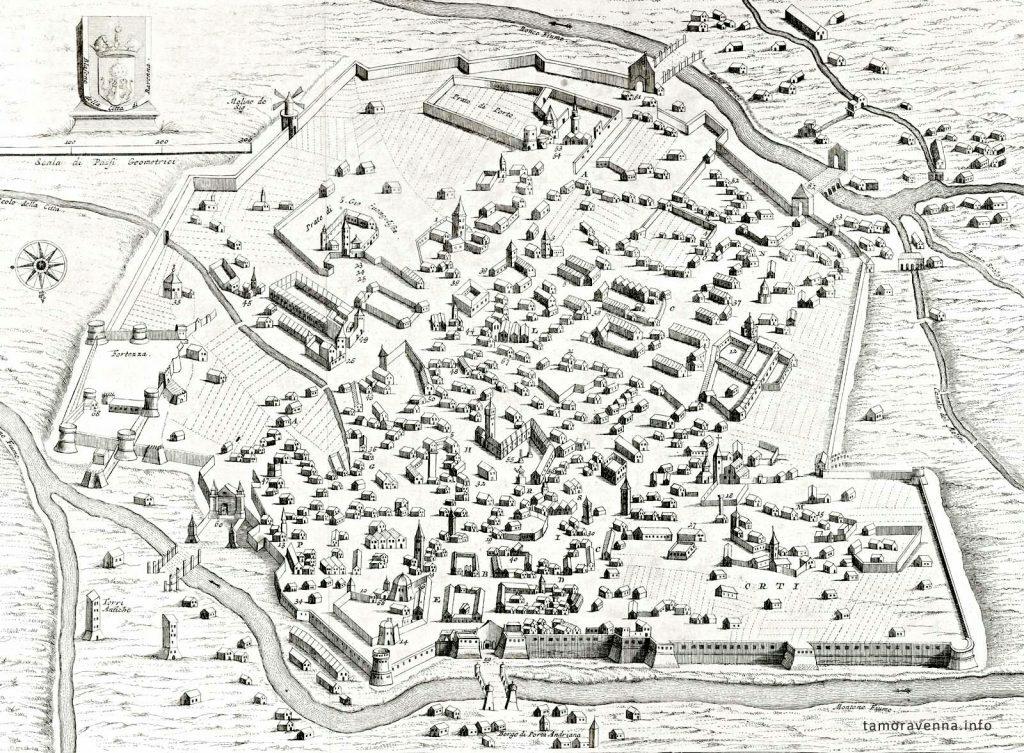 Ichnografia Urbis Antiquae Ravennae (1722, particolare)