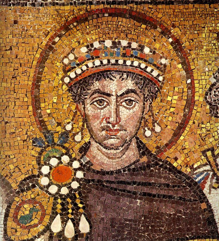Giustiniano e il suo seguito, Basilica di San Vitale