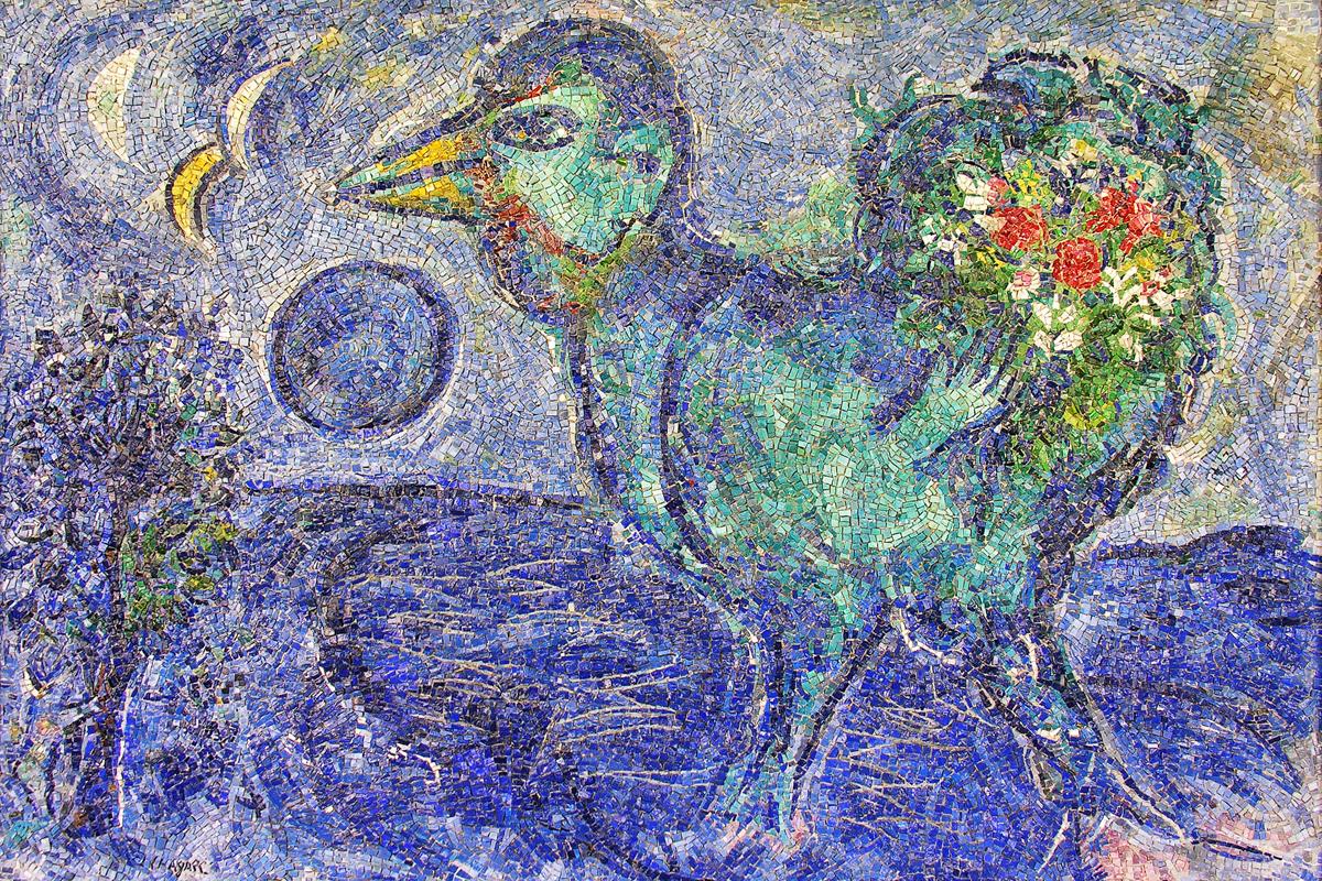 Collezione Mosaici Contemporanei (Antonio Rocchi, Marc Chagall, Le coq bleu, Museo MAR, Ravenna)