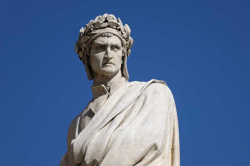 Dante Alighieri in Piazza Santa Croce, Firenze | Enrico Pazzi, completata nel 1865