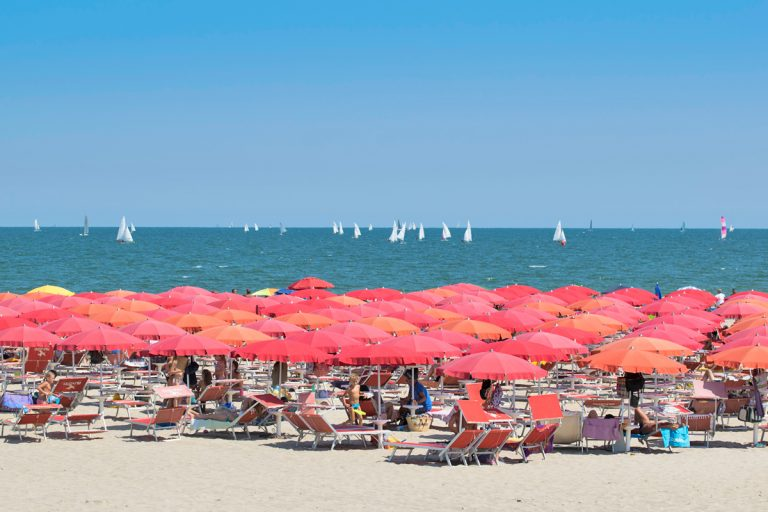 La spiaggia di Punta Marina Terme (Ravenna)