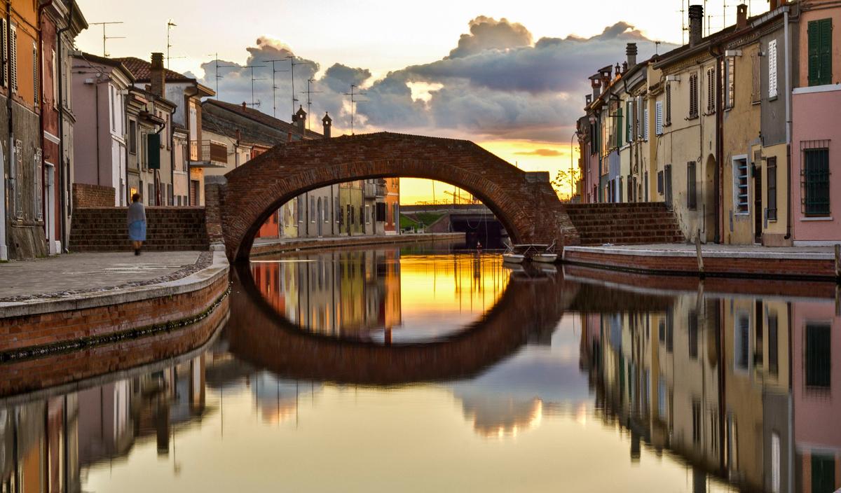 Il borgo di Comacchio (Ferrara)